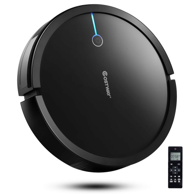 Costway Robot Self Charging Vacuum Cleaner 2000Pa W/ Strong Suction Filter