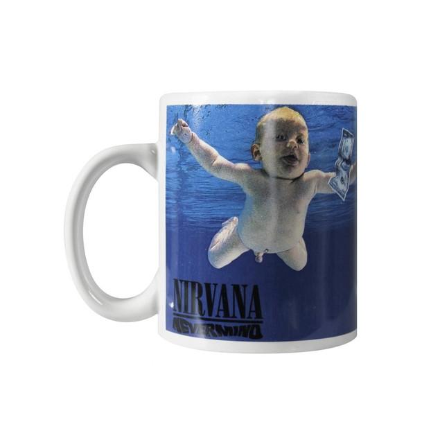 Nirvana Nevermind Coffee Mug 12 oz. Ceramic Punk Rock Alternative Music Tea