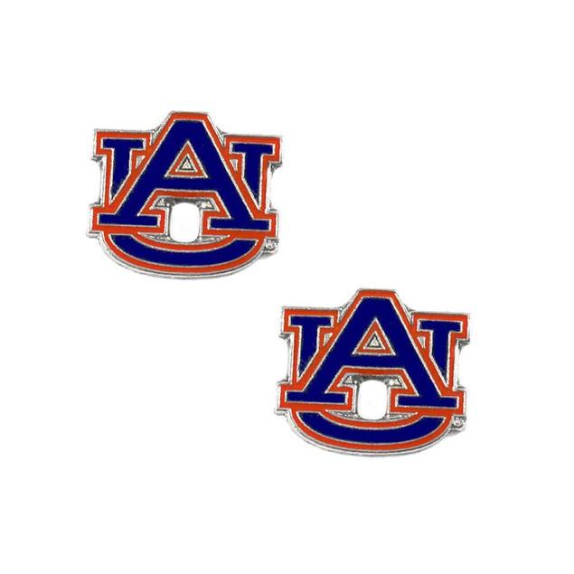 Auburn Tigers Post Stud Logo Earring Set Charm Gift NCAA