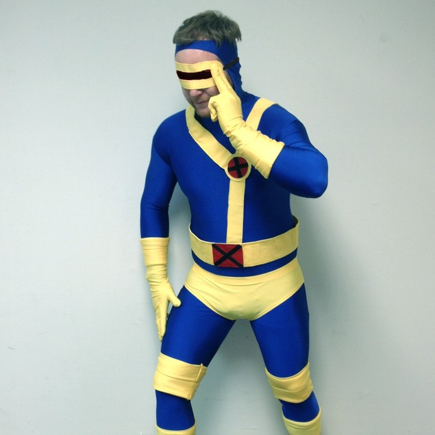 Cyclops Blue and Yellow Adult Costume