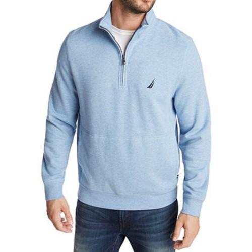 Nautica Men's Classic-Fit Quarter-Zip Fleece Sweatshirt Blue Size XX Large
