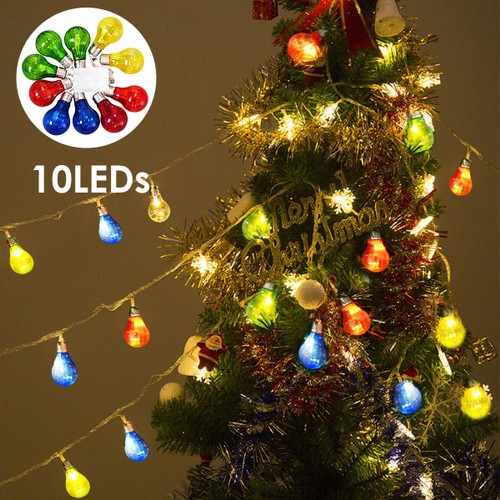 Costway Christmas Xmas 10 LED String Ball Lights Wedding Party Decor Fairy