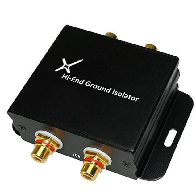 Ground Loop Noise Isolator Filter Car Audio Home High-fidelity System