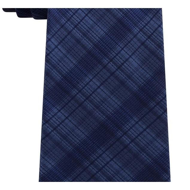 Kenneth Cole Men's Multi Tonal Check Tie Navy Size Regular