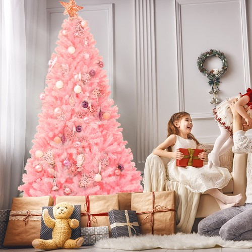Costway 7.5Ft Hinged Artificial Christmas Tree