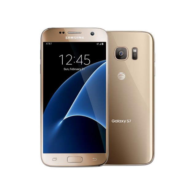 Samsung Galaxy S7, AT&T, Gold, 32 GB, 5.1 in Screen