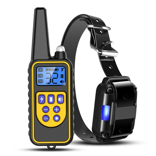 Dog Training Collar IP67 Waterproof Pet Trainer Outdoor w/Flashlight