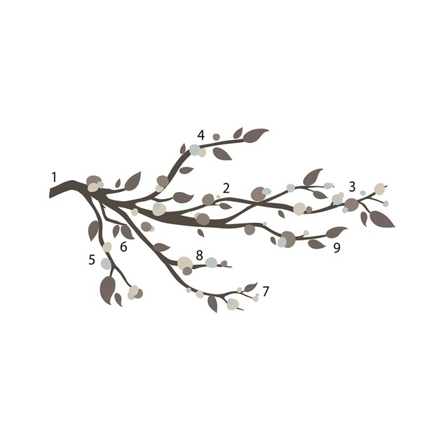 Roommates Nursery Baby Room Wall Decorative Mod Branch Wall Decals