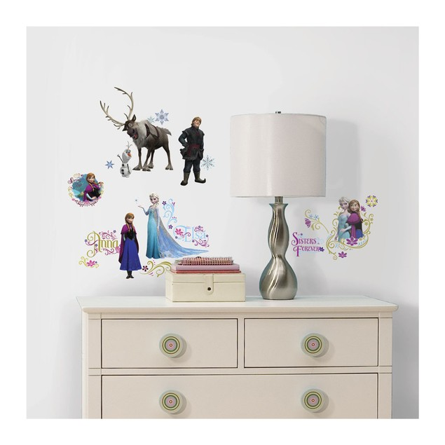 Roommates Nursery Baby Room Wall Decor Frozen Wall Decals with Glitter