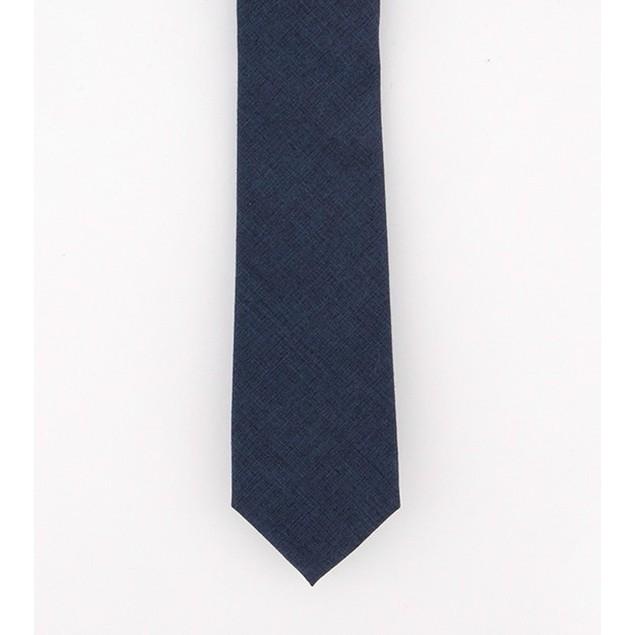 Bar III Men's Beach Solid Skinny Tie Navy Size Regular