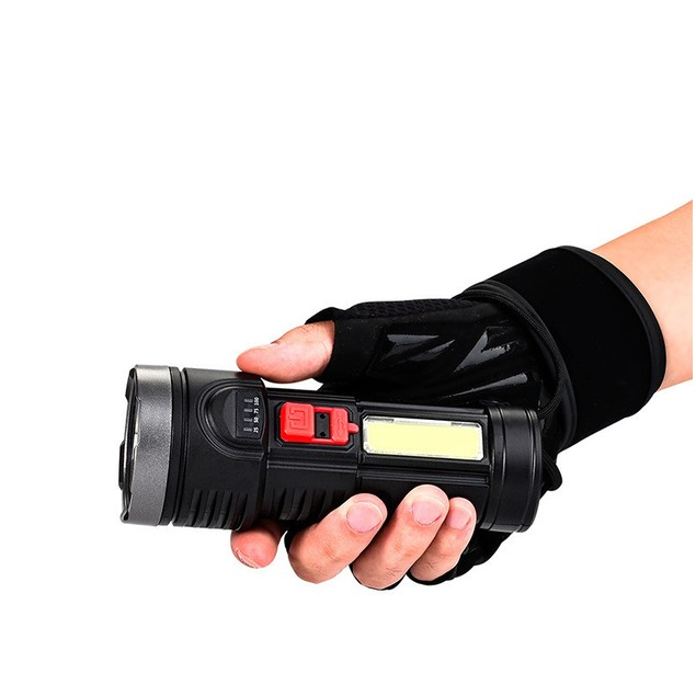 Outdoor Portable Lighting Long-range Glare Flashlight With Charge Display Usb Rechargeable