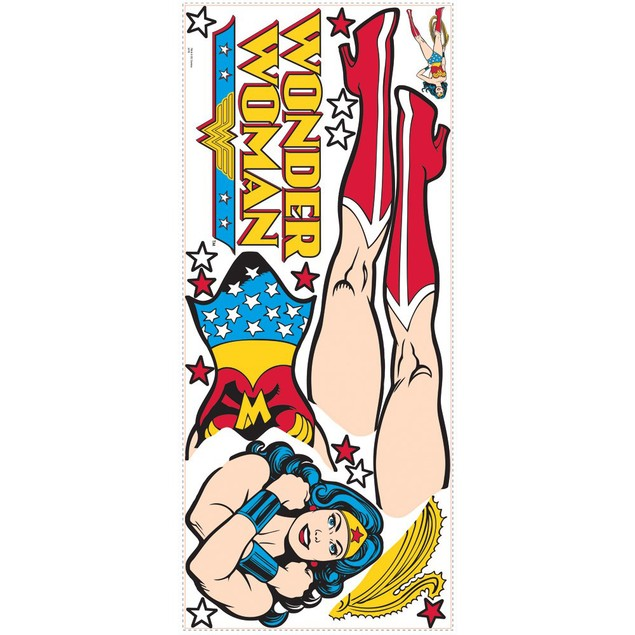 Roommates Baby Room Wall Decor Classic Wonder Woman Giant Wall Decals