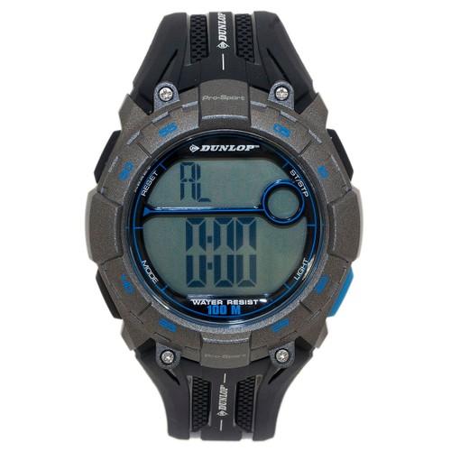 Dunlop Digital Watch Men´s Pro Sport Digital Multi-Function Grey Quartz Light