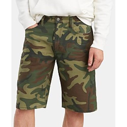 "Sun + Stone Men's Pattern Blocked 10"" Shorts Green Size 30"