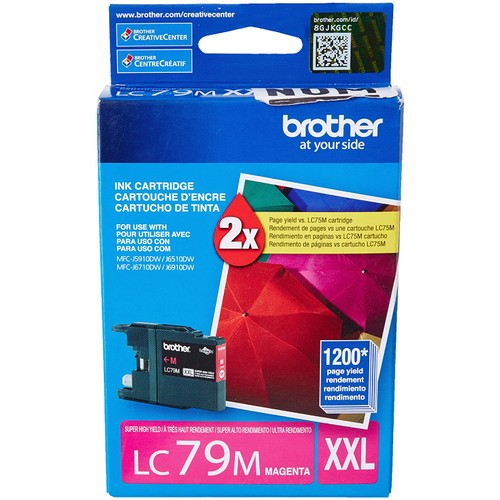 Brothers Brother Printer LC79M Super High Yield (XXL) Magenta Cartridge Ink - Retail Packaging