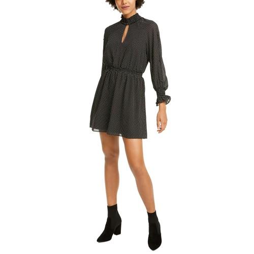 Rachel Roy Women's Dotted-Print Dress Black Size 2 Extra Large