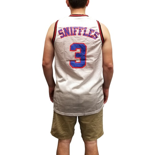 Sniffles #3 Tune Squad White Jersey