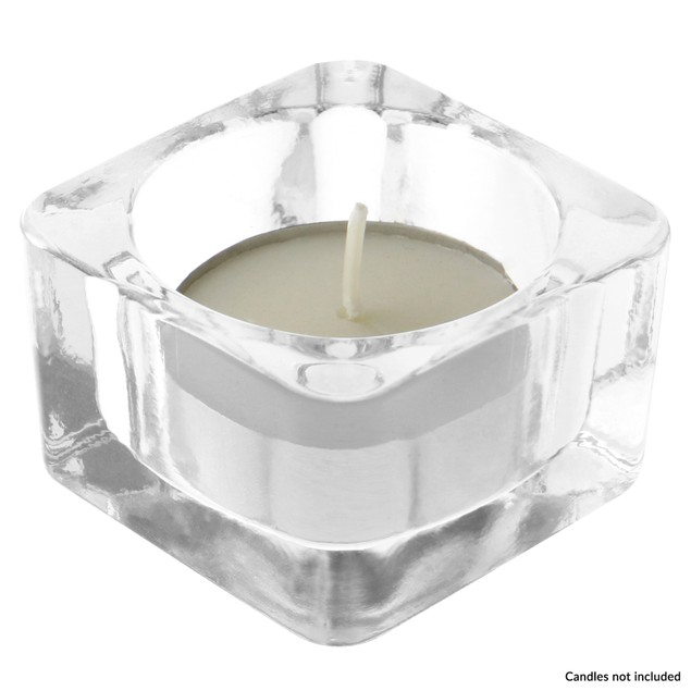 Square Tealight Candle Holder | MandW Set of 12