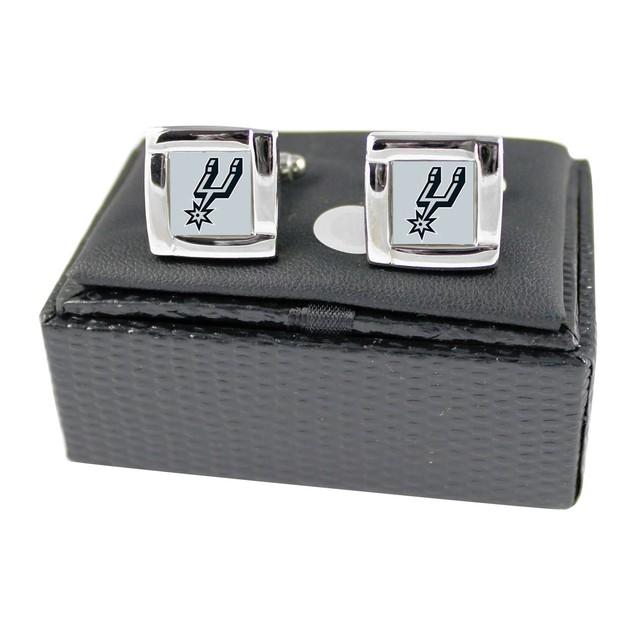 NBA Square Cufflinks with Square Shape Engraved Logo Design Gift Box Set