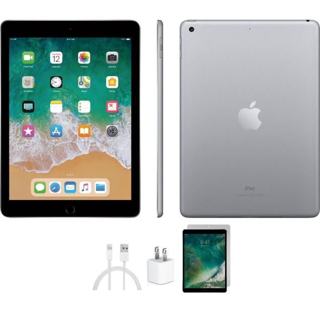 Apple iPad 5th Generation Bundle (128GB, WiFi, Space Gray)