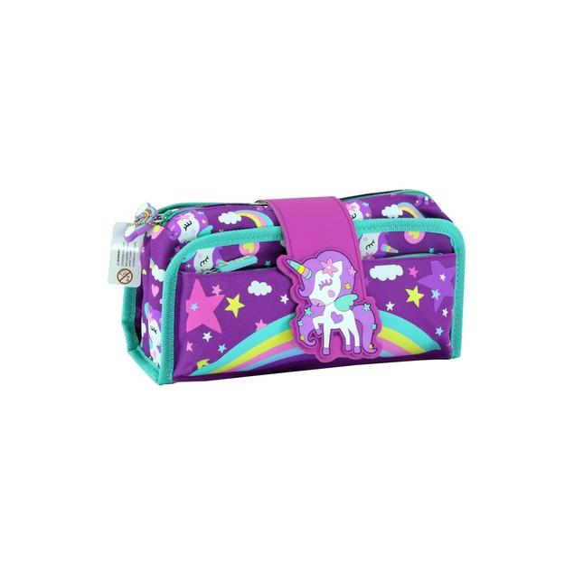 Smilykiddos Fancy Strap Pencil Case purple