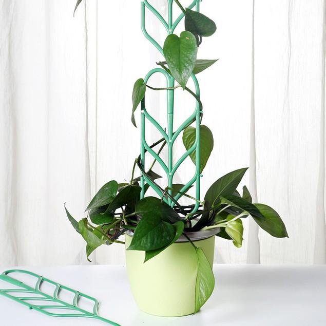 3Pcs Garden Climbing Plant Pot Rack Flower Leaf Vines Plastic Trellis