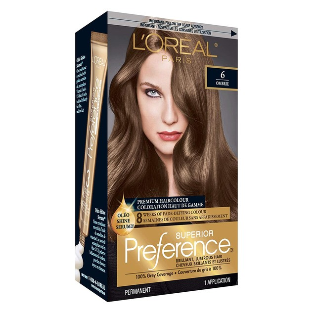 L'Oreal Paris Superior Preference Permanent Hair Colour 6 Light Brown, 1 E