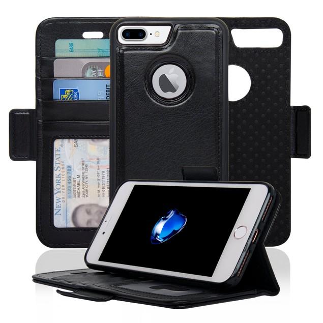Navor Detachable Magnetic Wallet Case for iPhone 7 Plus [VJ Series]