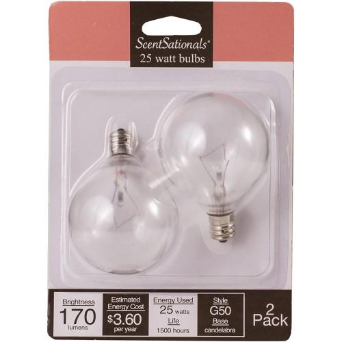 Scentsationals 25 Watt Replacement Light Bulb for Wax Warmer, Clear -6 Pack