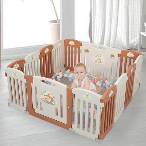 14 Panel Baby Playpen Safety Play Yard Home Indoor Outdoor