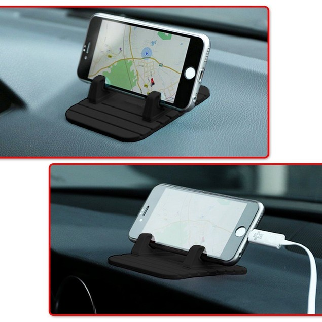 Zone Tech Silicone Pad Dash Mat Cell Phone Mount Holder Android Tablet
