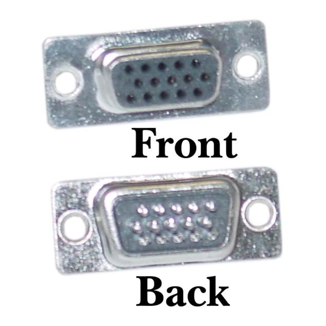 HD15 (VGA) Female Connector, Solder Type
