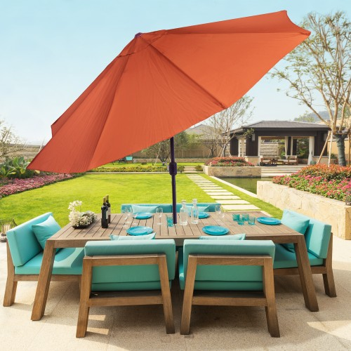Pure Garden 10 Foot Aluminum Patio Umbrella with Auto Tilt