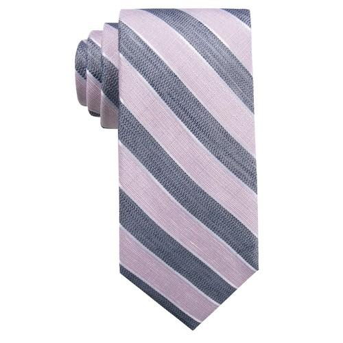 Ryan Seacrest Men's Seville Seasonal Stripe Slim Tie Gray One Size