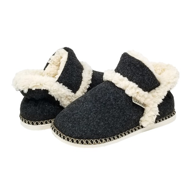 GaaHuu womens faux wool ankle slipper boot- 2 Colors