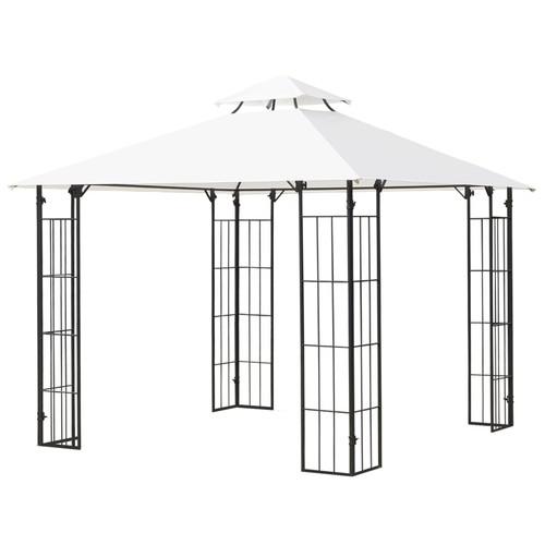 10' Patio Gazebo Canopy Outdoor Wedding Party Tent Shelter Sun Shade Metal