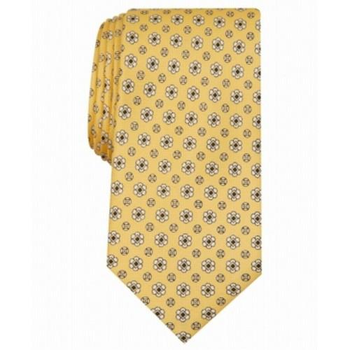 Club Room Men's Classic Neat Silk Tie  Yellow Size Regular