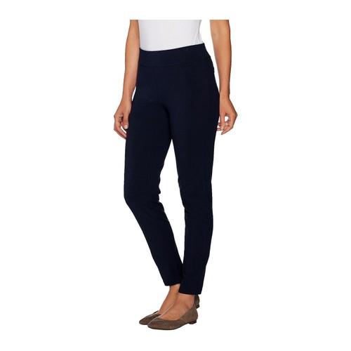 Susan Graver Regular Premium High Stretch Slim Leg Pull-On Pants, Small,