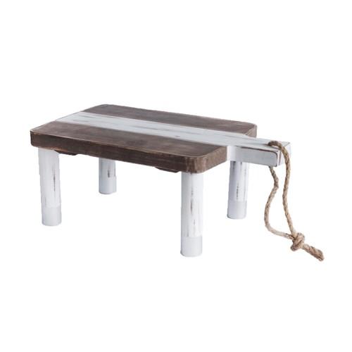 Rectangle Wood Cutting Board Riser, Multicolored