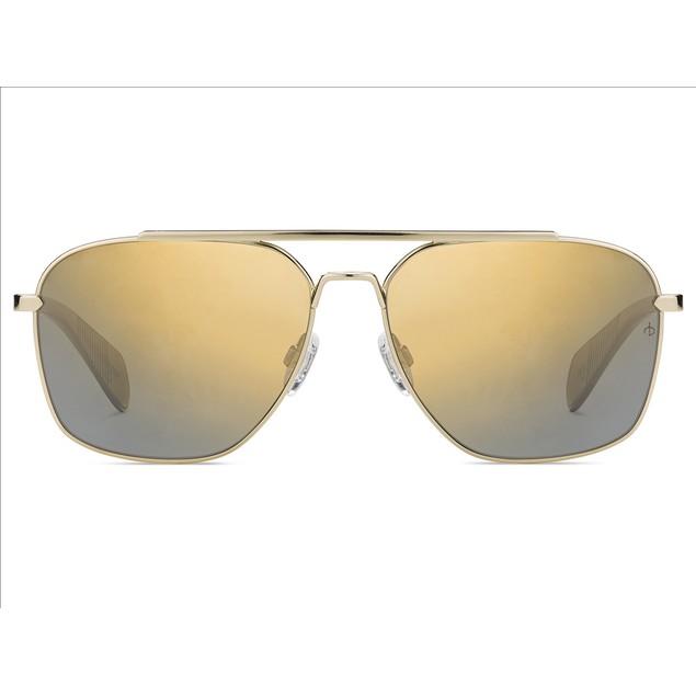 Rag & Bone Man Sunglasses RNB5004S 001Q Gold Brown 60 15 145 Navigator Mirrored