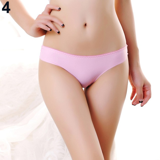 Women Sexy Solid Color Thongs