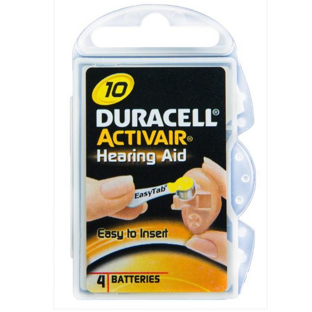 Duracell Activair Size 10 Zinc Air Hearing Aid Batteries (40 pack)