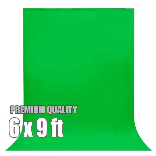 PORTABLE GREEN SCREEN BACKDROP (6 x 9 ft)