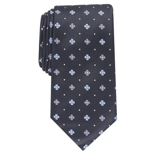 Club Room Men's Classic Neat Tie  Black Size Regular