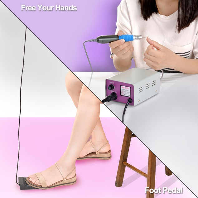 Complete Electric Nail Drill Kit Set Art File Bit Acrylic Manicure kit