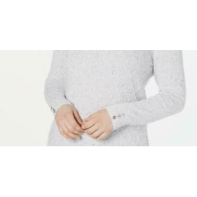 Karen Scott Women's Diamond Cable-Knit Sweater White Size Large
