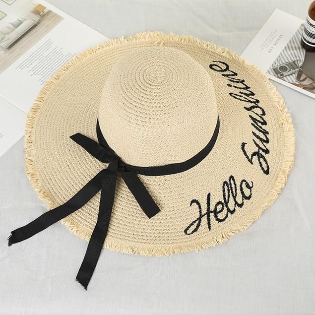 Hello Sunshine Beach Sun Hat