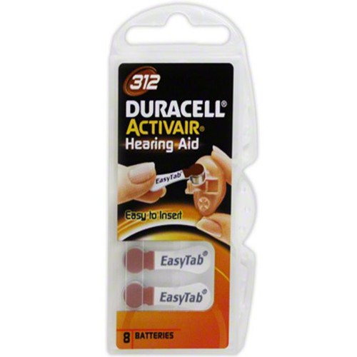 Duracell Activair Size 312 Zinc Air Hearing Aid Batteries (80 pack)
