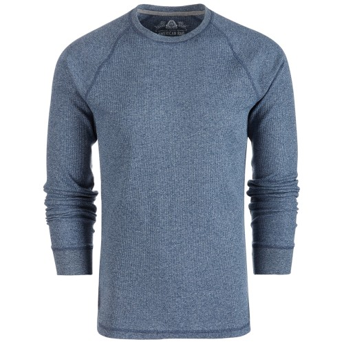 American Rag Men's Thermal Long Sleeve Shirt Blue Size Extra Large