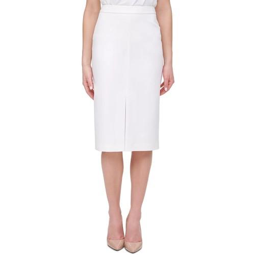 Tommy Hilfiger Women's Front Slit Pencil Skirt White Size 2